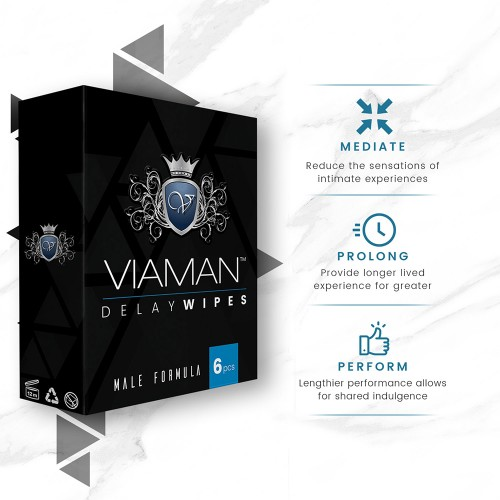 Viaman Delay Wipes